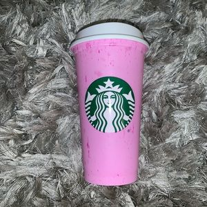 Starbucks Marble Hot Cup PINK